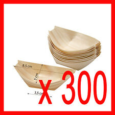x 300  SMALL  Bamboo Wood Wooden Food  Serving  BOATS Canape Finger SYDNEY
