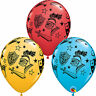"""6 x 11"""" Pirate, Zombies, Knights & Armour Printed Qualatex Latex Balloons"""