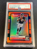 DESHAUN WATSON 2017 PANINI DONRUSS OPTIC ROOKIES RED REFRACTOR /99 RC PSA 10