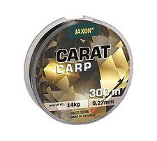 Ligne de Pêche Jaxon Carat Carpe 300m/600m Bobine Fichier Unique Fil pour Feeder