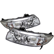 Fit Honda 06-11 Civic 2Dr Coupe Dual Halo LED Projector Headlights LX EX DX SI