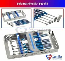 Soft Brushing Kit Set Of 5 Dental Implant Surgery Instruments With Free Cassette