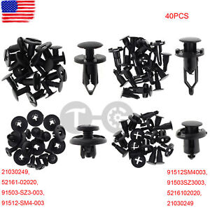 40pc Bumper Cover Fender Shield Clip Wheelhouse Liner Retainer For GM Ford Chevy