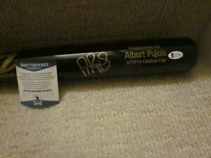 Albert Pujols Cardinals Angels Signed Marucci Game Model AP5P-S Bat BAS Auth