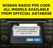 NISSAN RADIO CODE CLARION STEREO UNLOCK CODE ALL MODELS PIN CODE WITHIN MINUTES