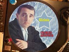"Charles Aznavour – Alleluia Mega Rare 12"" Picture Disc Maxi Single LP NM"