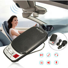 Wireless Bluetooth Hands Free Car Auto Kit Speakerphone Speaker Phone Visor Clip