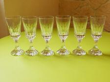 6 verres à vin en cristal de baccarat modèle ASSAS  ref 739a