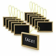 12pk Rectangle Black Mini Chalkboard Wedding Table Numbers DIY Food Service Sign
