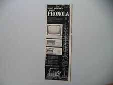 advertising Pubblicità 1960 PHONOLA TELEVISORE/RADIO/FONOGRAFO