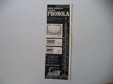 advertising Pubblicità 1960 PHONOLA TELEVISORE/RADIO/FONOGRAFO