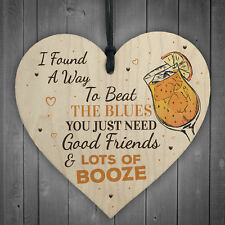 Gifts For Her Friendship Heart Alcohol ManCave Best Friend Gift Bar Kitchen Sign