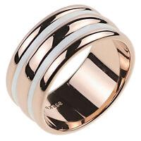 Damen Ring echt Silber 925 Sterling rosegold gold mit Emaille Damenring Bandring