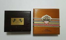 Lot of 2 Empty Wood Cigar Boxes