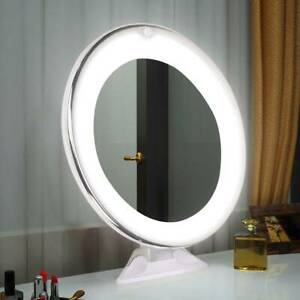 10X Cosmetic Light Mirror Make Up Magnified Round LED Cosmetic Mirror UK