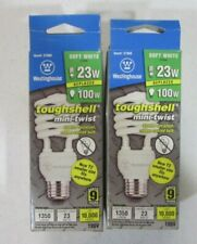 Lot of 2 Westinghouse 23W Replaces 100W T2 Spiral Light Bulb CFL #37989