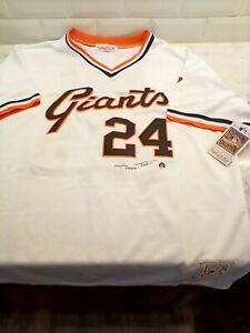 Willie Mays Autographed Mitchell & Ness AUTHENTIC Jersey Say Hey Hologram COA!!!