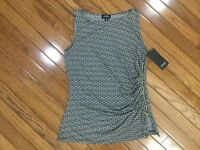 NWT Jones New York Women's Sleeveless Top Blouse Side Zipper Sz M  MSRP $49