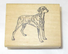 Just For Fun Dog rubber stamp Wood Mounted Standing dogs Pose pets animals mntd