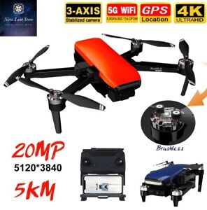 HD Camera Drones 4K-1B Video GPS 5000M Long Distance 35mi Brushless Quadcopter
