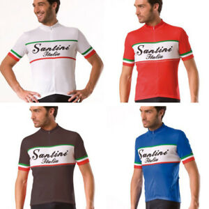 NEW SANTINI ITALY SHORT SLEEVE MODERN FABRIC VINTAGE LOOK  JERSEY - PRICE CUT!