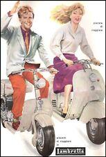 PUBBLICITA' 1954 LAMBRETTA 125 D-LD INNOCENTI TORRE PALLAVICINO  MOTO SCOOTER