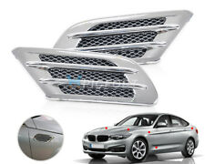Universal Car Side Air Flow Vent Fender Hole Cover Intake Grille Duct Sticker