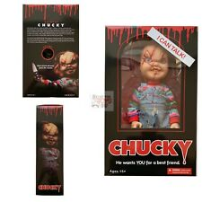 "SCARRED FACE CHUCKY Mezco CHILDS PLAY ""Talks"" MEGA SCALE 15"" Inch DOLL 2019"