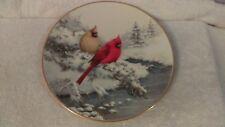 Lenox 4 seasons collector's plate Winter 2001 Cardinals