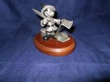 """New listing Chilmark Fine Pewter: """"Checking it Twice"""", Annual Mickey Mouse Santa, 1993"""