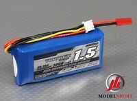 Turnigy 1500mAh 2S 25 - 35C 7.4V Lipo Battery RC Car Heli Plane JST Connector
