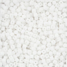3mm Minos® par Puca® Czech Glass 3mm Barrel Beads Opaque White 9g (L103/2)