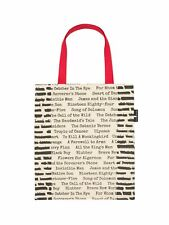 Out of Print Literary and Book-Themed Canvas Tote Carrying Bag for Book Lovers