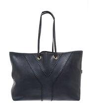 Yves Saint-Laurent YSL Neo Reversible Calfskin Leather Tote Bag Purse Navy $1495