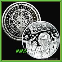 2020 FAUCI FEAR 1oz PROOF MICROMINTAGE SILVER SHIELD SSG 777  VACCINE VIRUS DR.