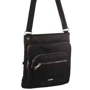 Pierre Cardin Unisex Slash-Proof Cross Body Bag Black Navy Taupe