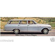 1964 Chevy II Nova Wagon Auto Car Refrigerator / Tool Box Magnet