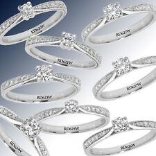 9 Carat Engagement White Gold I2 Fine Diamond Rings