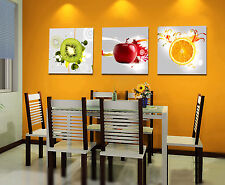 3PC Oil painting Fruit Picture Printed on canvas Modern dining-room Wall deco