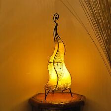 Oriental Lámpara de henna marruecos Cuero pie CHEVAL 60 Amarillo