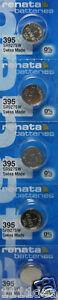 5 NEW RENATA 395 SR927SW WATCH 0% MERCURY BATTERIES