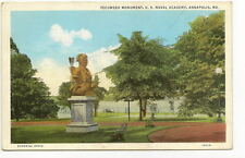 ANNAPOLIS MD Tecumseh Monument US Naval Academy Vtg PC Maryland Postcard