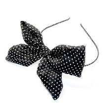 Moliabal Hair Band in Black W/ Polka Dot Bow MSRP $25