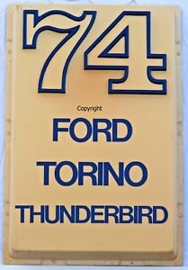 Dealer Showroom Light Sign 1974 Ford Thunderbird/Torino/Galaxie/LTD-Dealership