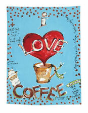Julia Junkin Design for PHI Cotton Kitchen Tea Towel I Love Coffee - NEW