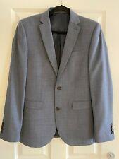 Para Hombre Chaqueta de traje de próxima Azul Claro 38 R Pantalones 30 R