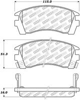 Disc Brake Pad Set-w/o ABS Front Stoptech 305.05090