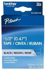 P-Touch Embellish Black Print on Blue Pastel Tape