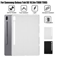 "For Samsung Galaxy Tab S6 10.5"" T860 T865 Soft Clear TPU Shock-proof Case Cover"