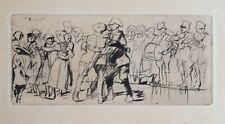 Frank William Brangwyn (1867-1956) Etching. Musicians and Dancers